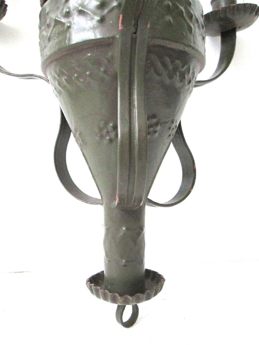 Early Painted Small Chandelier - 4