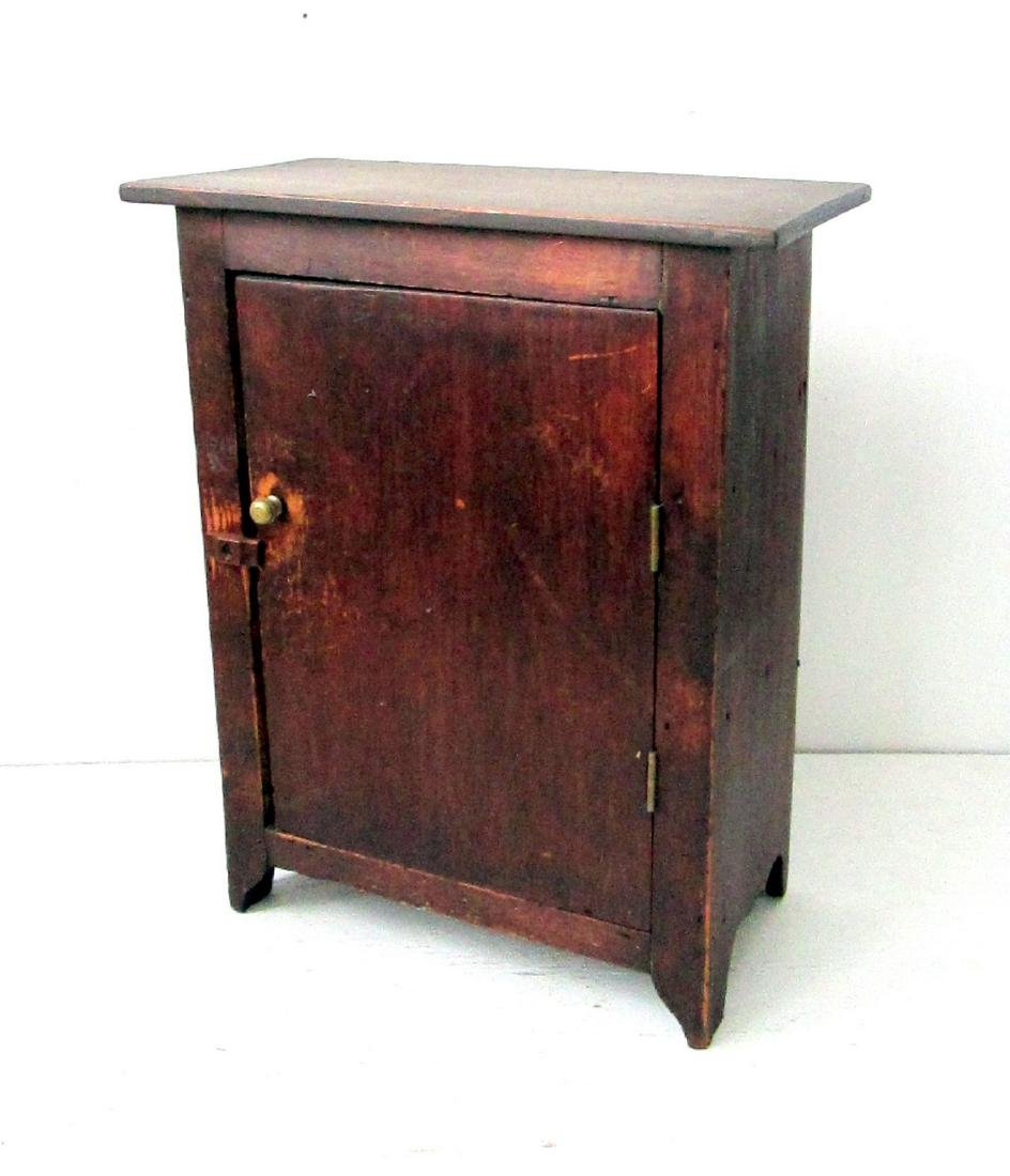 Early Tabletop Painted Cupboard