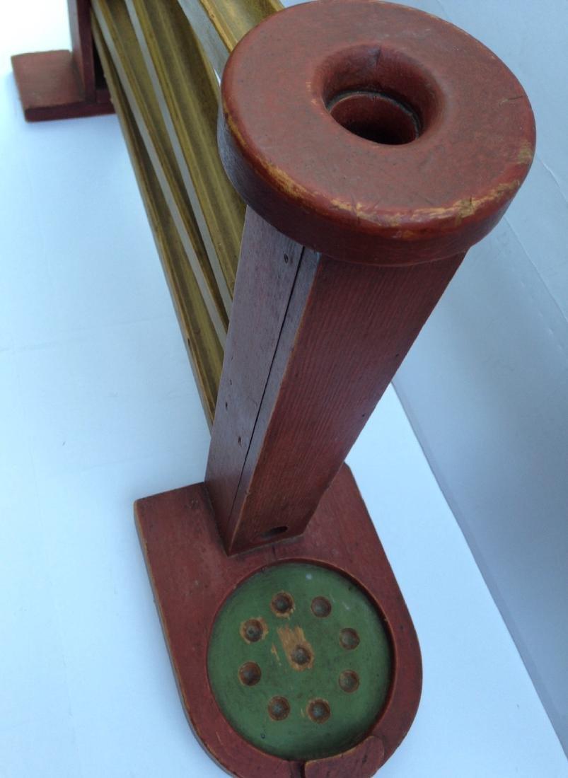 C 1930 Folk Art Wood Marble Game - 2
