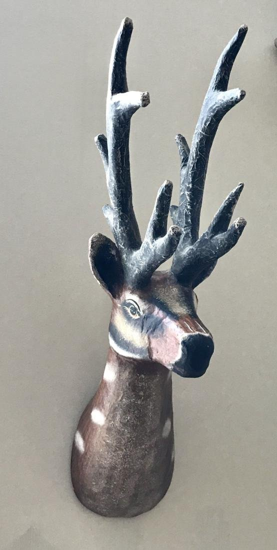 Store Display Paper Mache Deer Head
