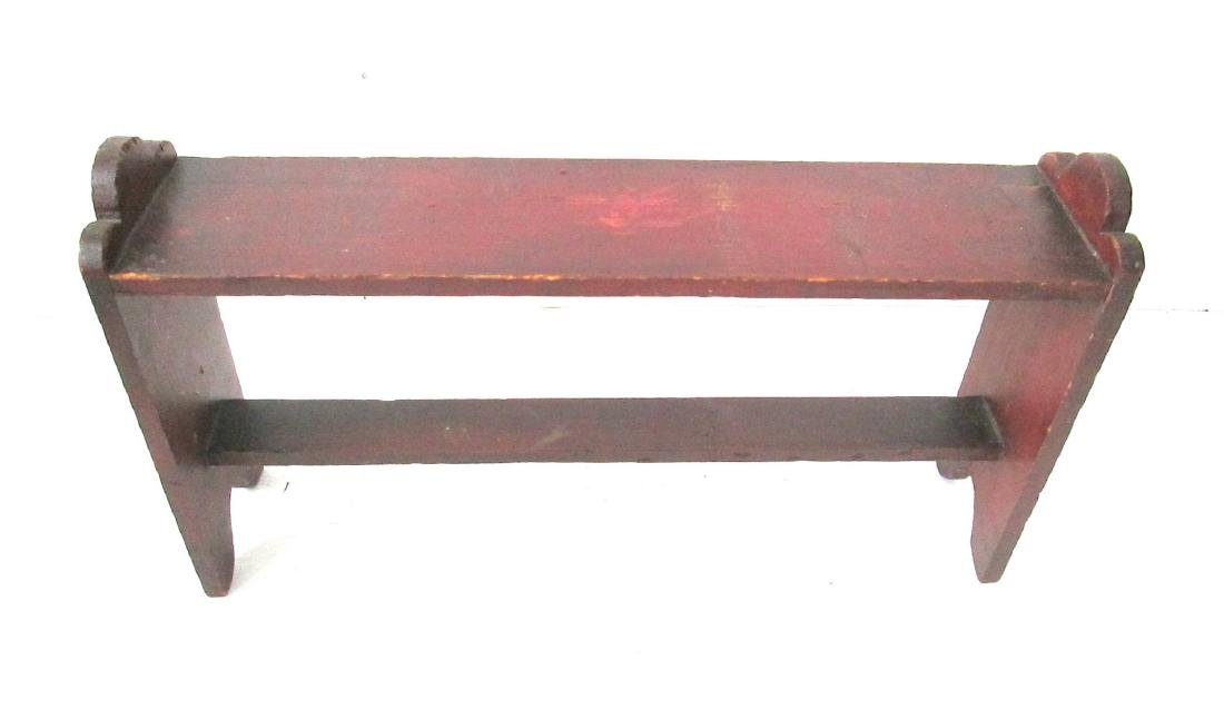 Rare Painted Miniature Bucket Bench
