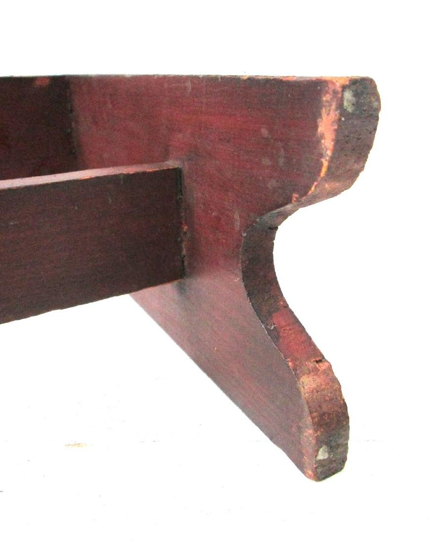 Rare Painted Miniature Bucket Bench - 9