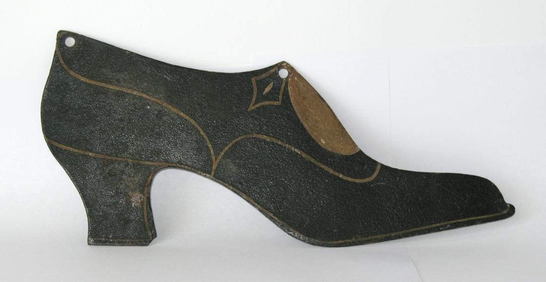 Folk Art Tin Ladies Shoe Trade Sign