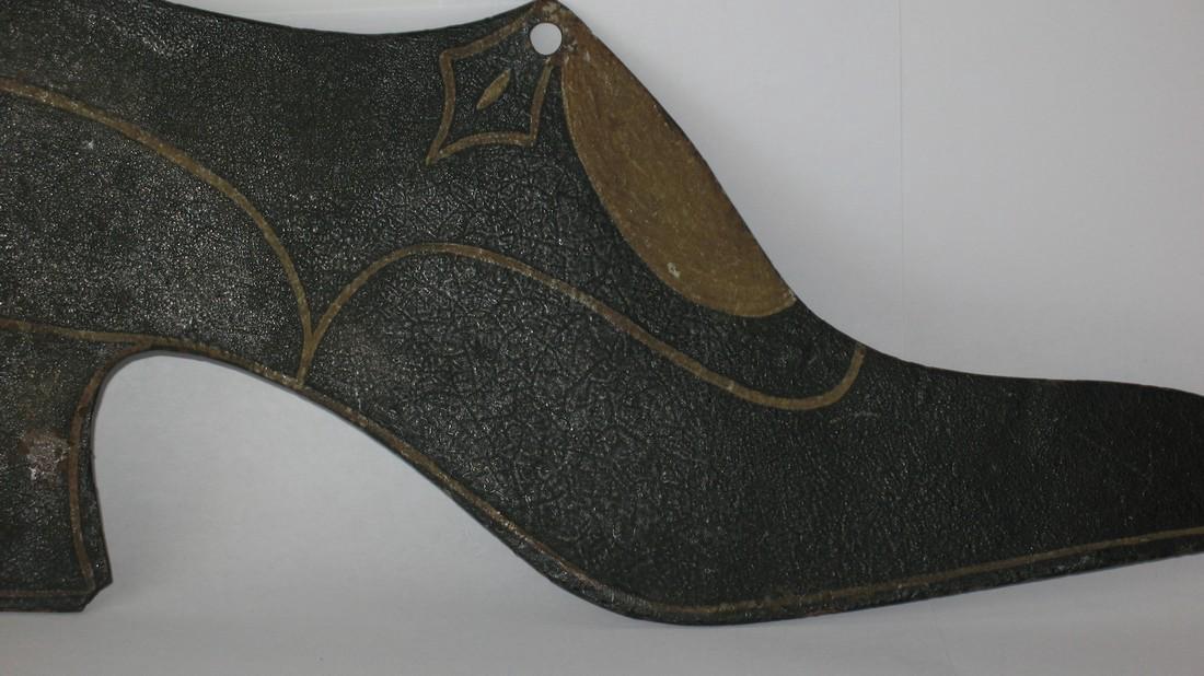 Folk Art Tin Ladies Shoe Trade Sign - 2