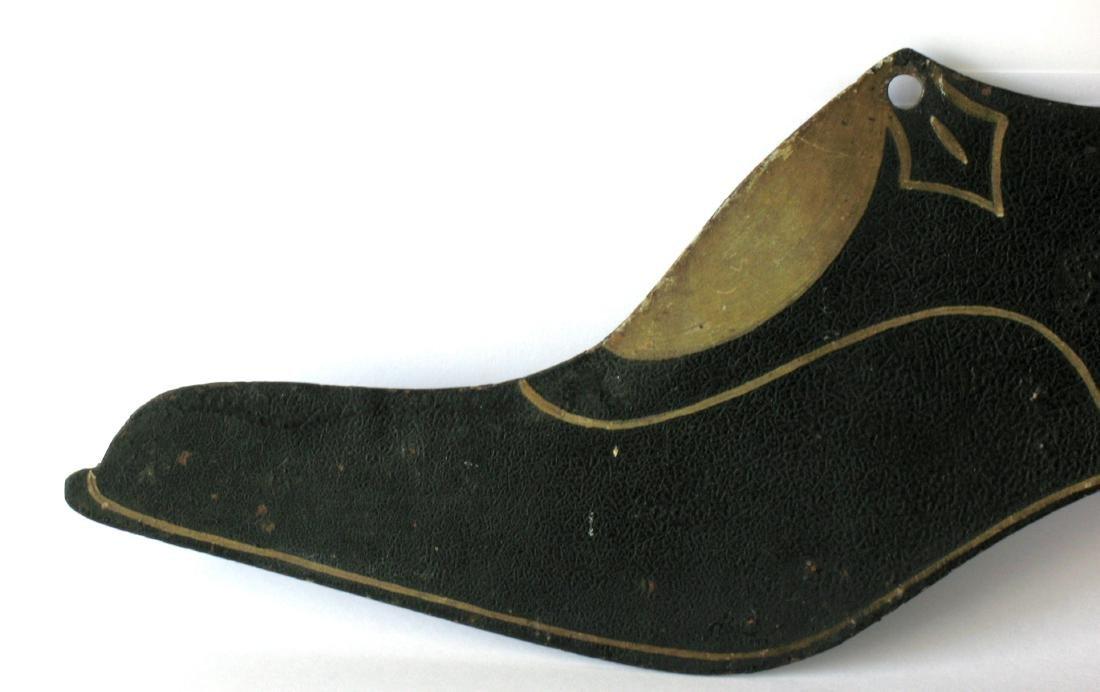 Folk Art Tin Ladies Shoe Trade Sign - 4