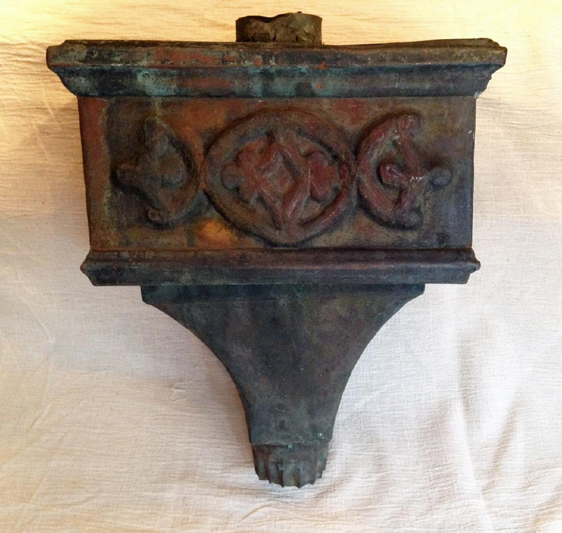 19th Century American Copper Downspout