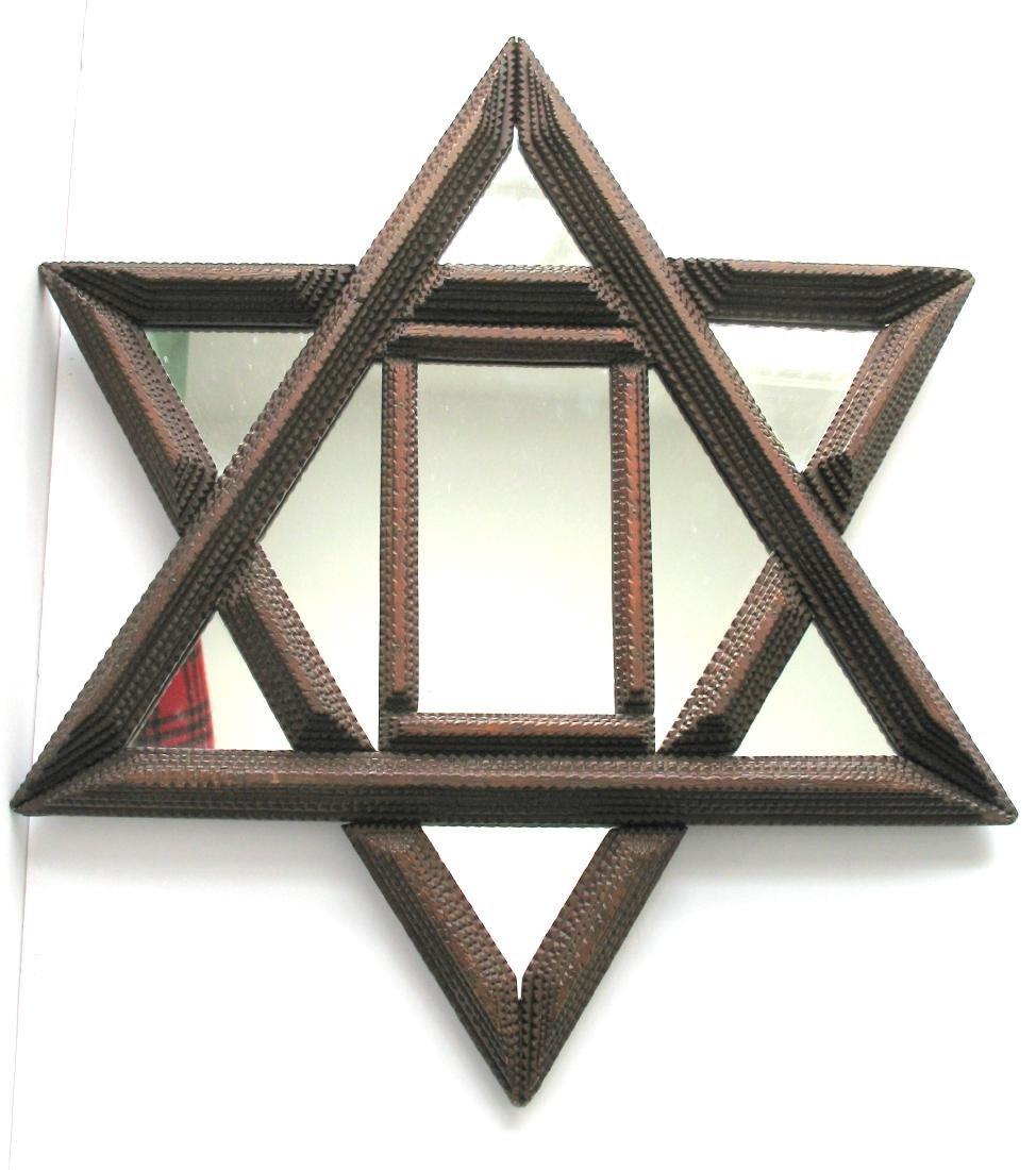 Tramp Art Star Mirror