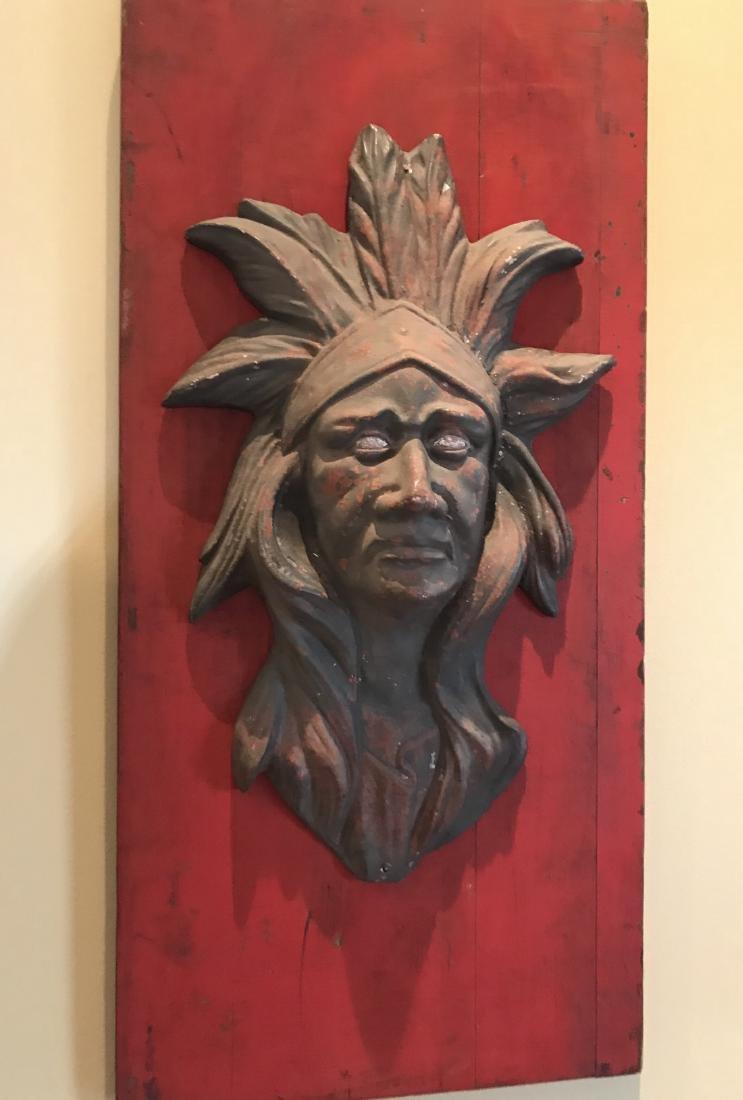 Zinc Indian Head Circus Art
