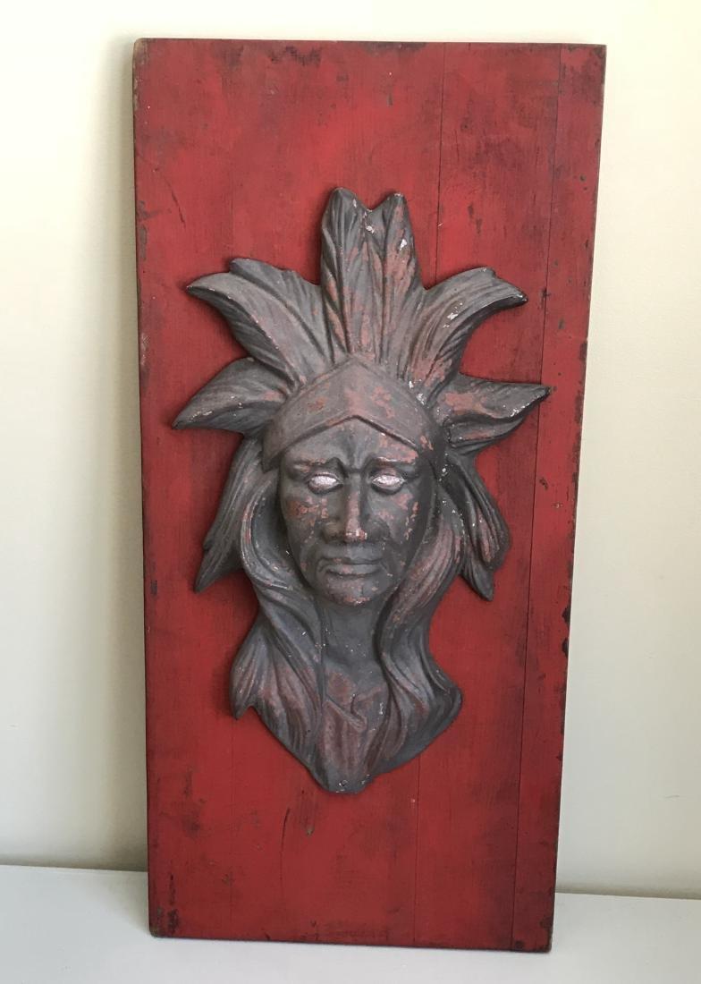 Zinc Indian Head Circus Art - 2