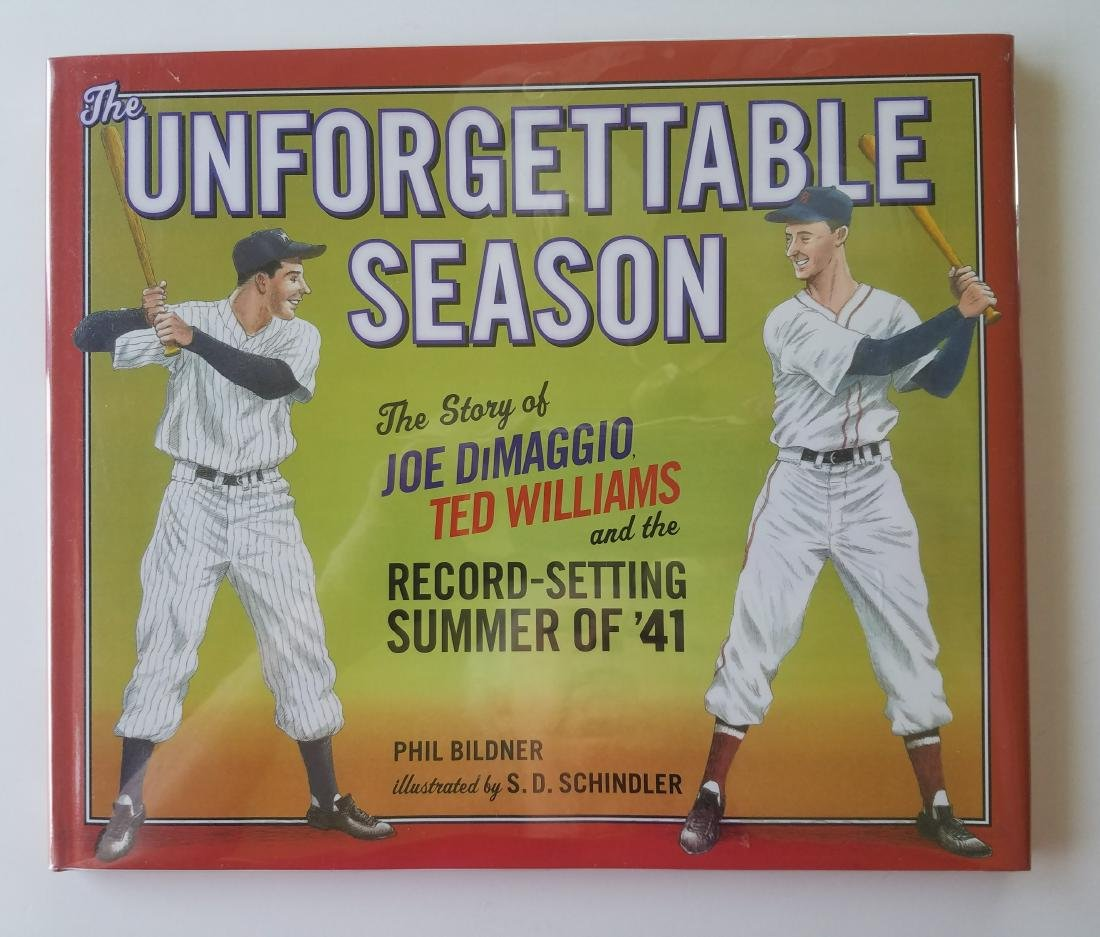 Joe DiMaggio & Ted Williams Signed by Phil Bildner