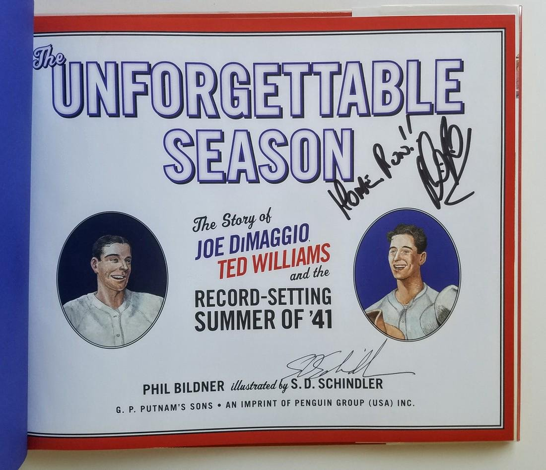 Joe DiMaggio & Ted Williams Signed by Phil Bildner - 2