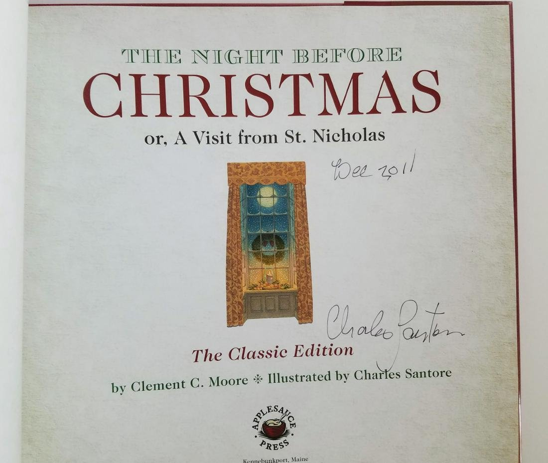 Signed Santore Night Before Christmas First Edition - 2