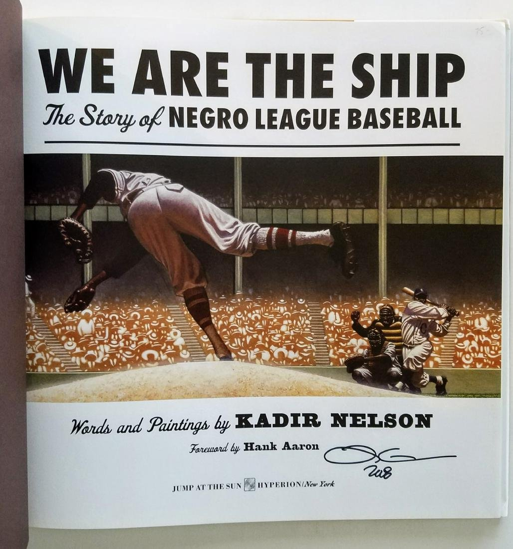 Negro League Baseball Signed First Edition First Print - 2