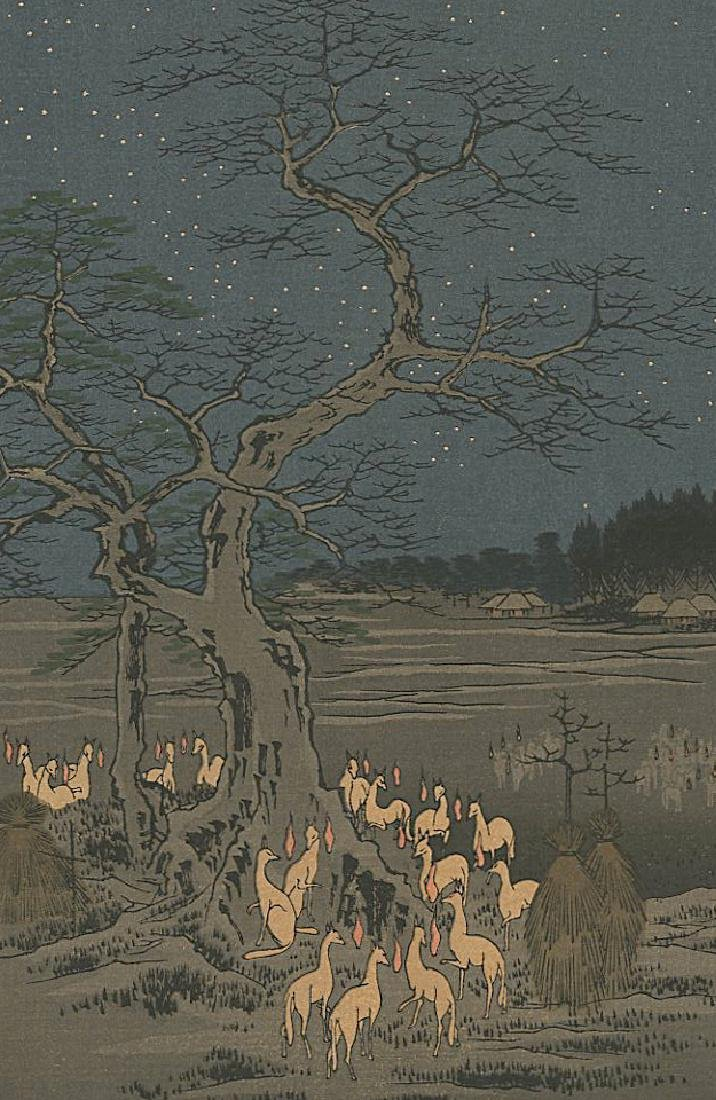 Ando Hiroshige Woodblock New Year's Eve Foxfires - 2