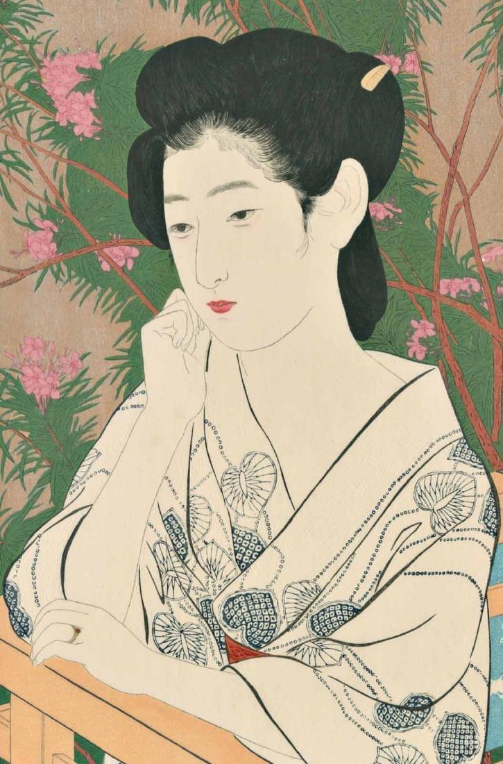Goyo Hashiguchi Woodblock Woman at a Hot Spring Spa - 2