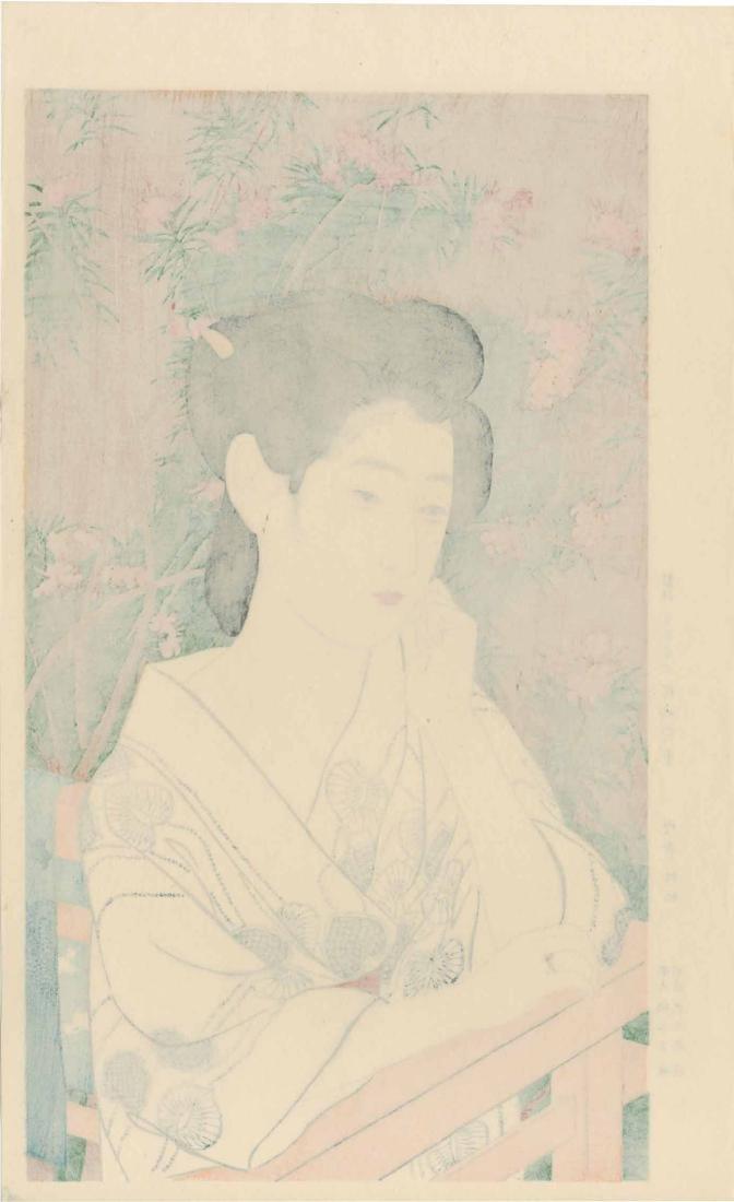Goyo Hashiguchi Woodblock Woman at a Hot Spring Spa - 3