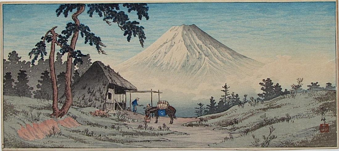 Takahashi Shotei Woodblock Otome Mountain Pass