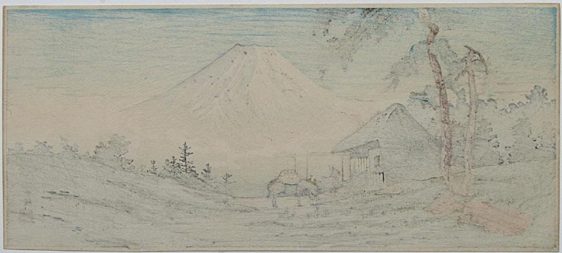 Takahashi Shotei Woodblock Otome Mountain Pass - 2