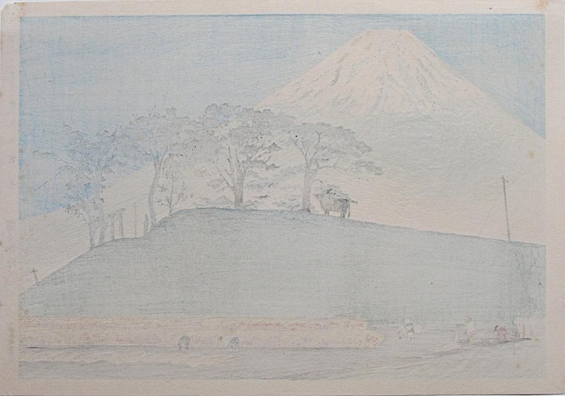 Tomikichiro Tokuriki Woodblock Fuji from Honen - 2