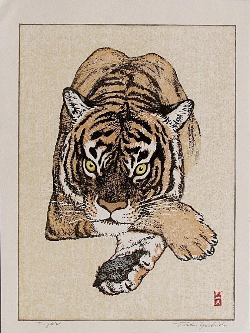 Toshi Yoshida Woodblock Tiger