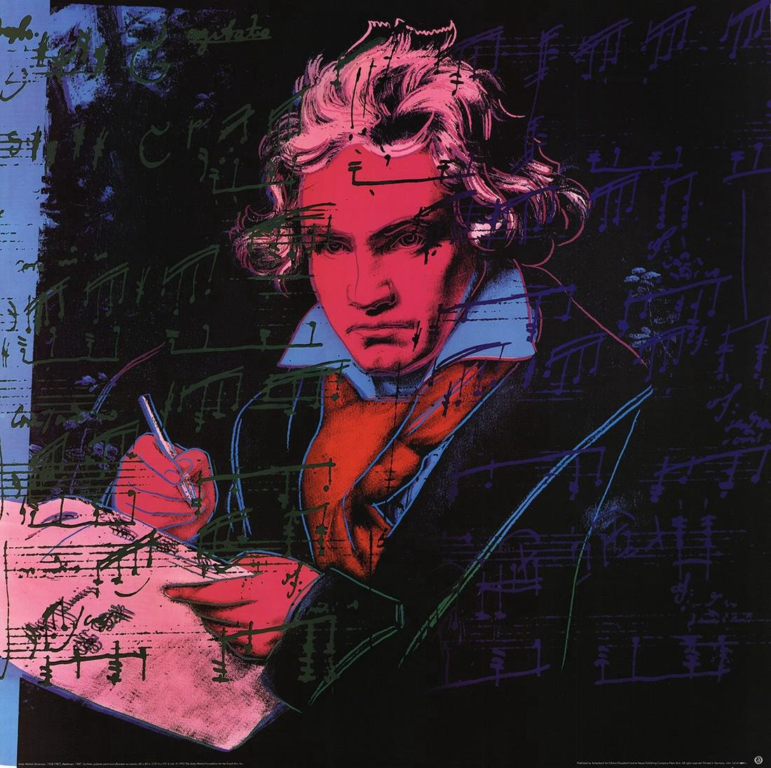 Andy Warhol Lithograph Beethoven Pink Book