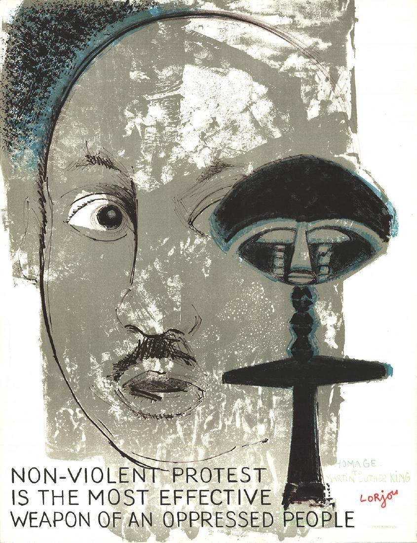 Bernard Lorjou Homage to Martin Luther King