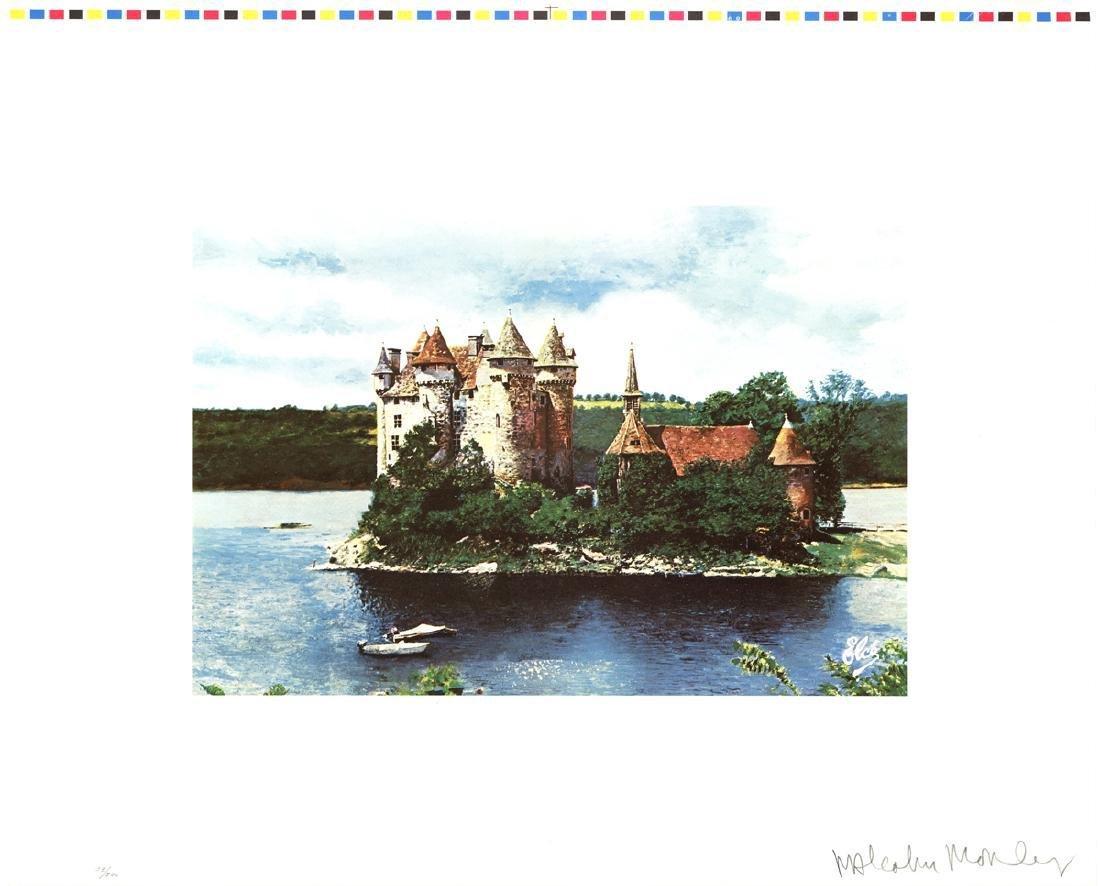 Malcolm Morley Lithograph Rhine Chateau