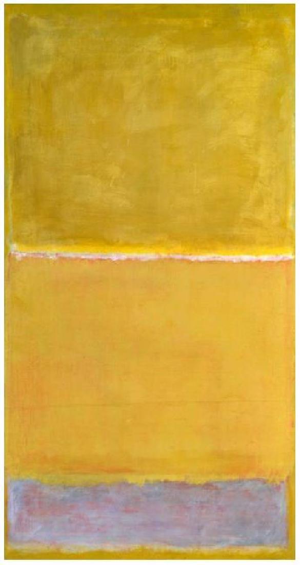 Mark Rothko Untitled Yellow c. 1950/1999 Silkscreen