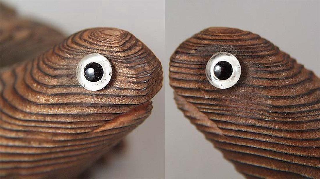 Japanese Wooden Okimono Walking Turtle Statue - 6