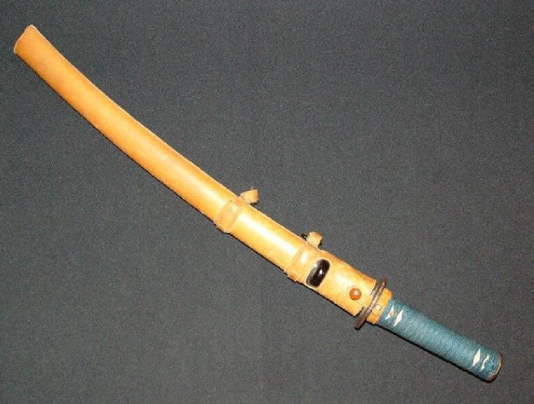Antique Japanese Sukesada Steel Short Sword, c1500