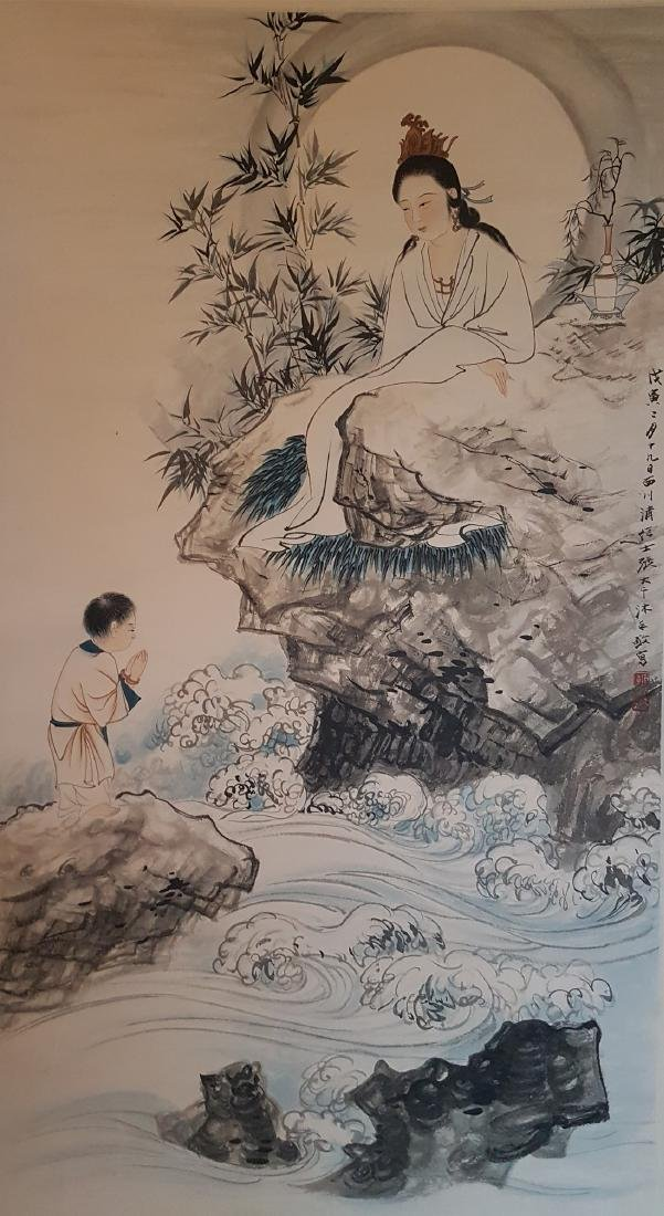 Chinese Scroll Painting on Paper ZHANG DA-QIAN - 2