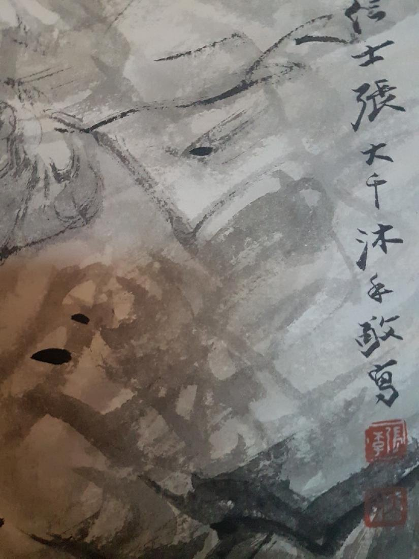 Chinese Scroll Painting on Paper ZHANG DA-QIAN - 4