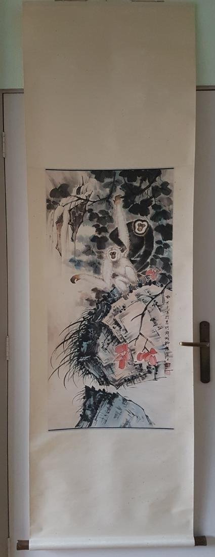 Chinese Scroll Painting on Paper TIAN SHI-GUANG
