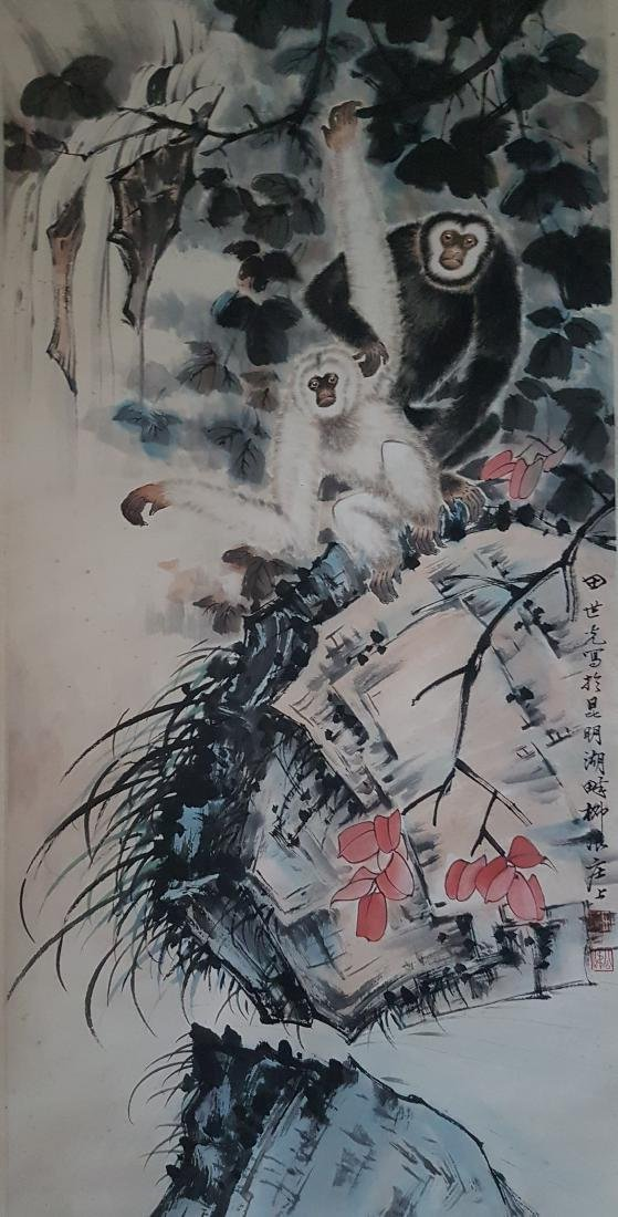 Chinese Scroll Painting on Paper TIAN SHI-GUANG - 2
