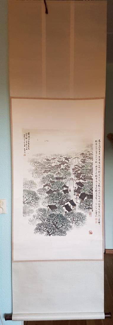 Chinese Scroll Painting on Paper Song WenZhi(1919-1999)