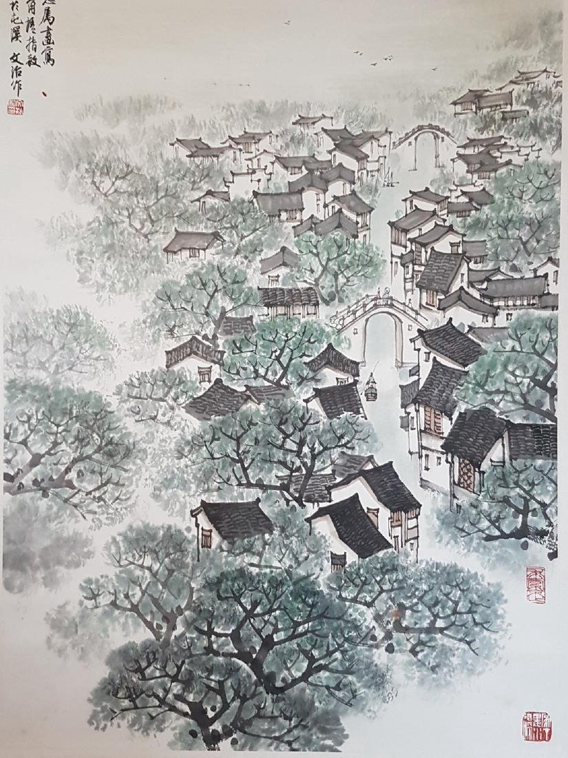Chinese Scroll Painting on Paper Song WenZhi(1919-1999) - 6