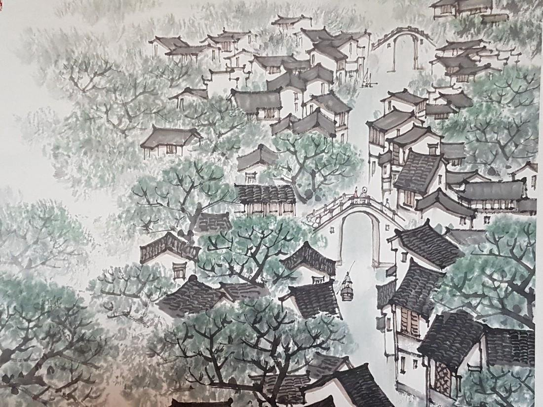 Chinese Scroll Painting on Paper Song WenZhi(1919-1999) - 7