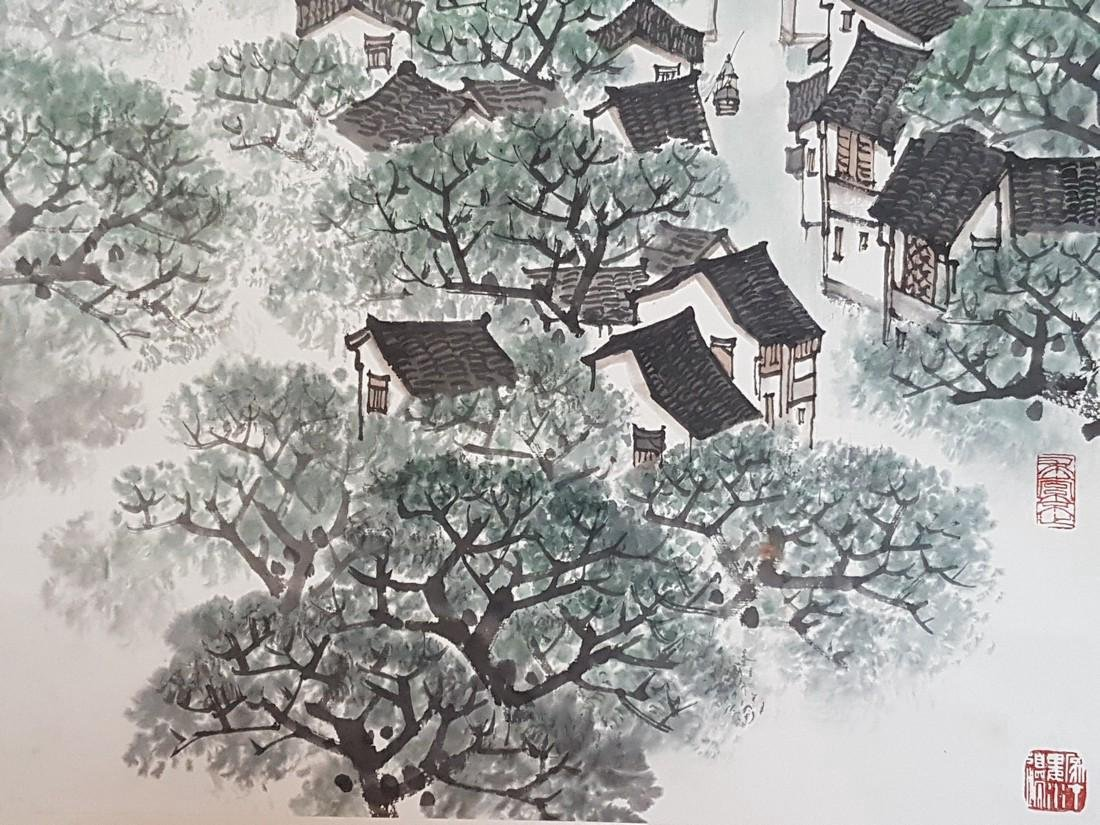 Chinese Scroll Painting on Paper Song WenZhi(1919-1999) - 8