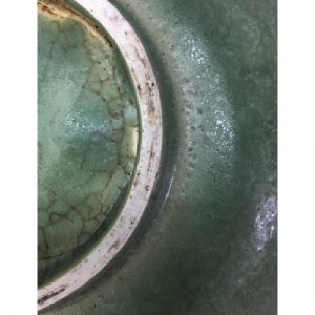 Antique Chinese Celadon Plate With 12 Figures - 3