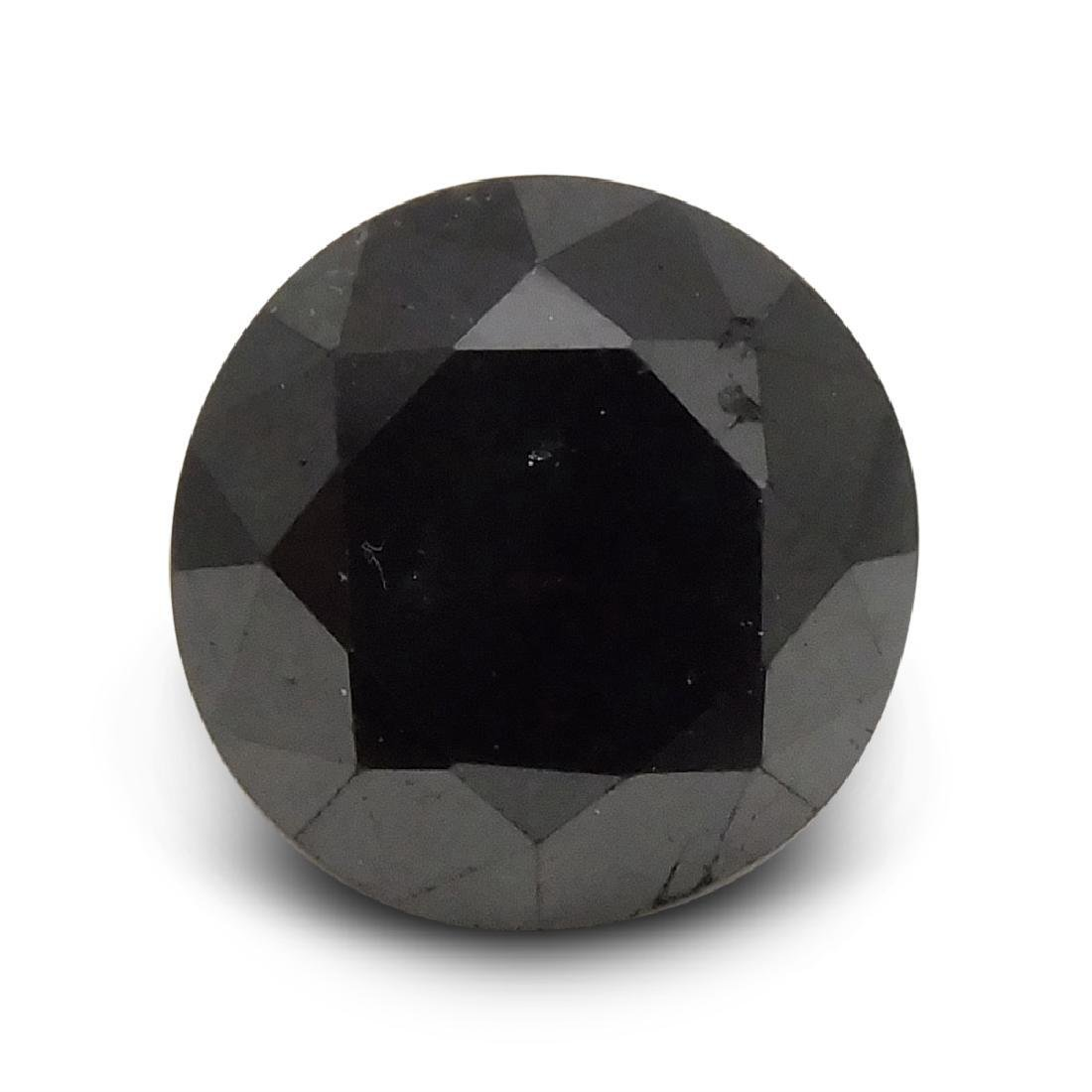 1.90 Carat Loose Round Black Diamond