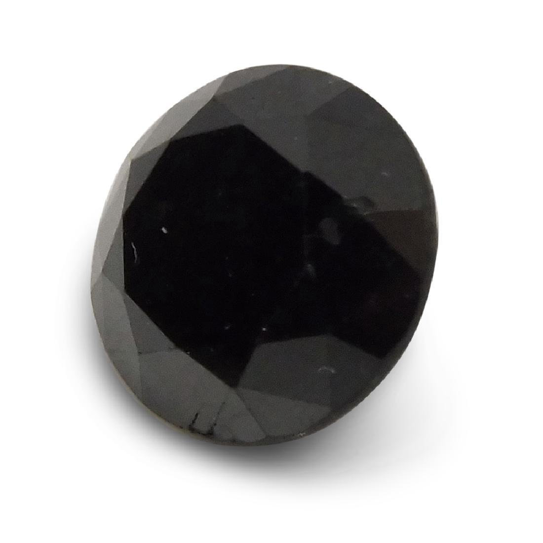 1.90 Carat Loose Round Black Diamond - 3
