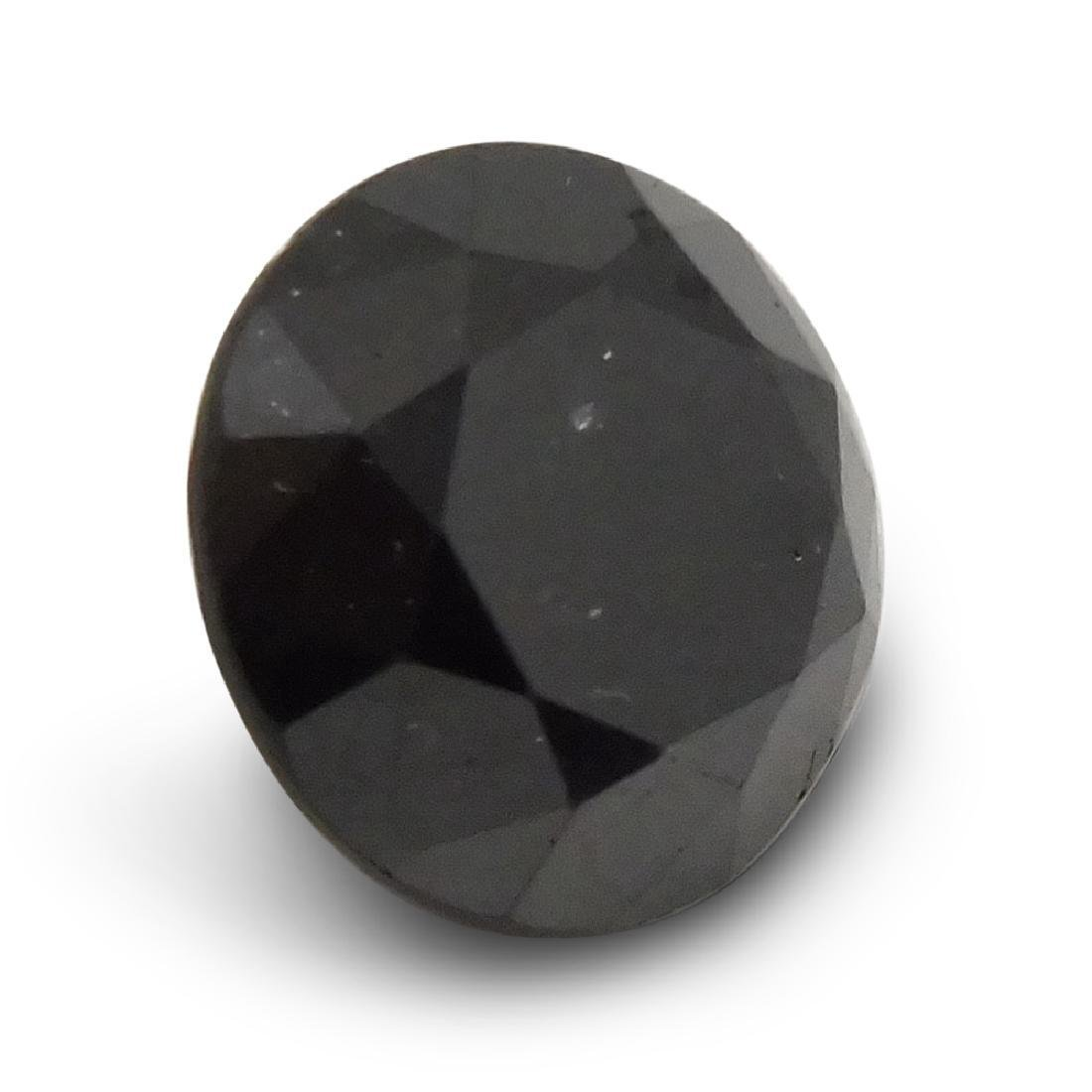 1.90 Carat Loose Round Black Diamond - 4