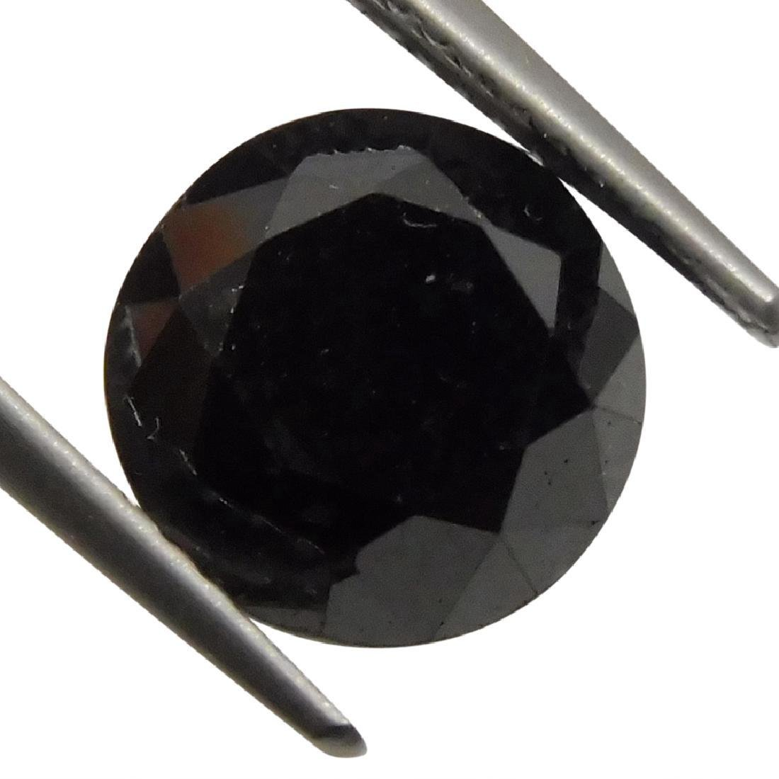 1.90 Carat Loose Round Black Diamond - 5