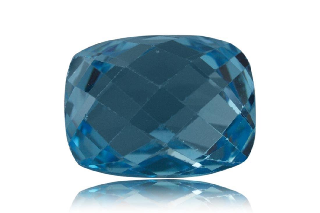 17.31 Carat Loose Cushion Checkerboard Blue Topaz