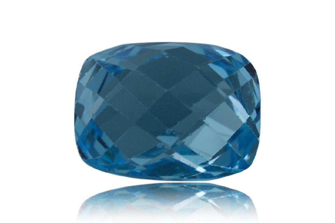 17.31 Carat Loose Cushion Checkerboard Blue Topaz - 2