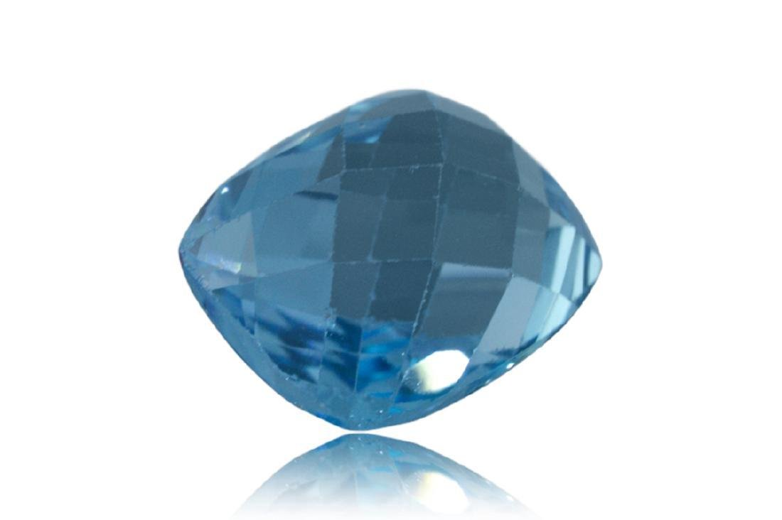 17.31 Carat Loose Cushion Checkerboard Blue Topaz - 3