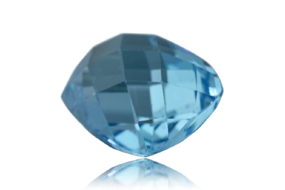 17.31 Carat Loose Cushion Checkerboard Blue Topaz - 4