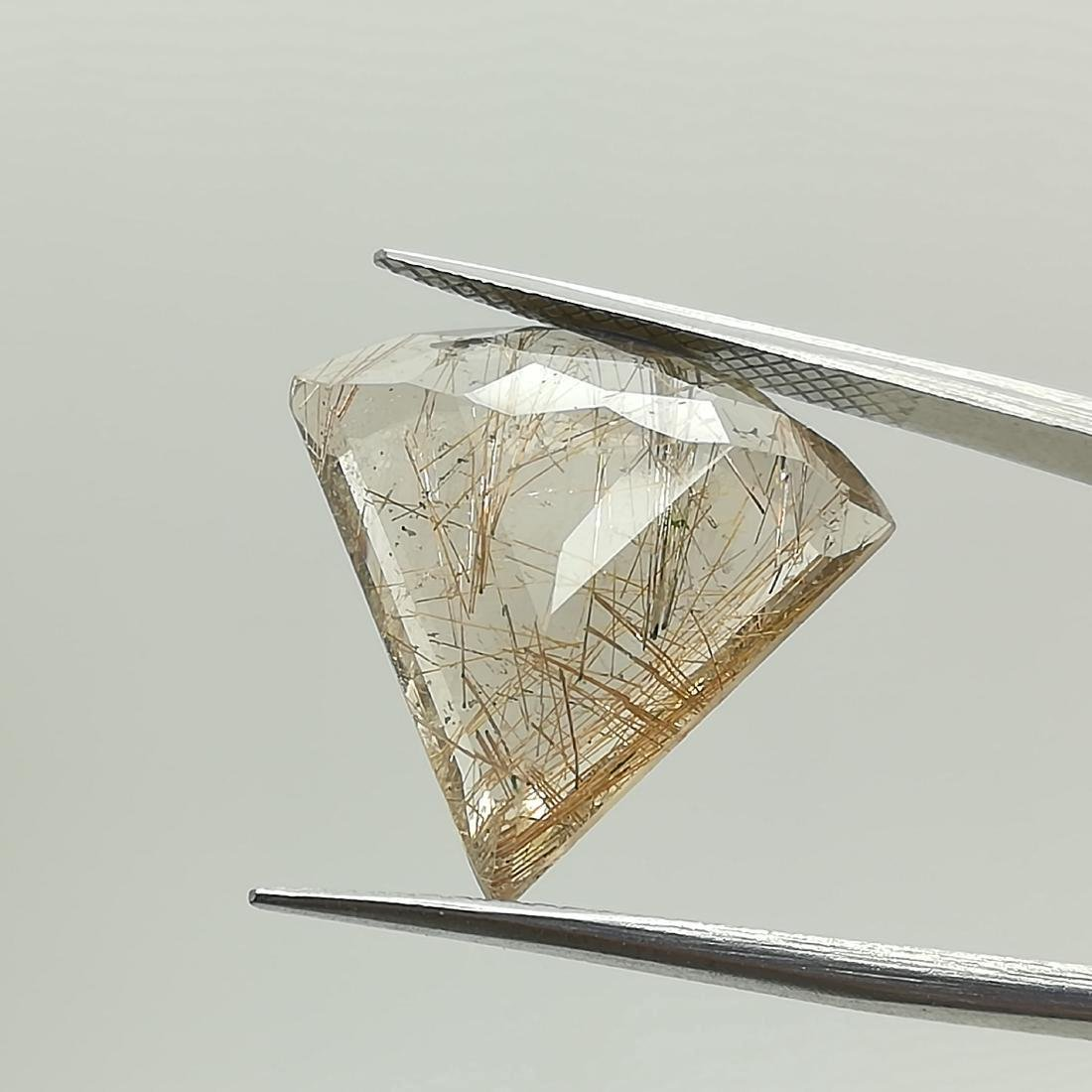 9.35 Carat Loose Rutilated Quartz Fancy Cut - 2