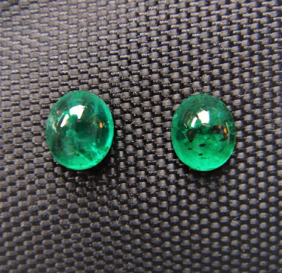 2.50 Carat Loose Emerald Pair