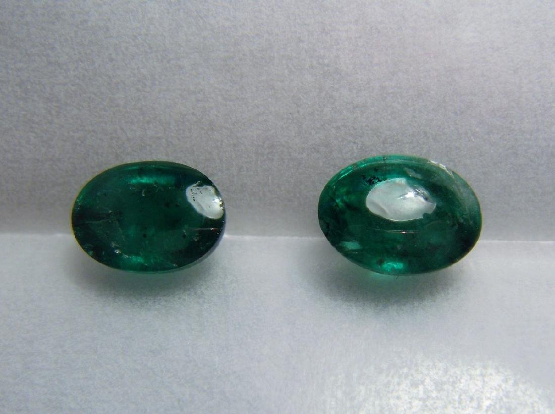 3.15 Carat Loose Emerald Pair - 4